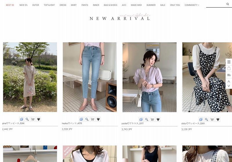韓国ファッション通販_大人ファッション_mimi&didi