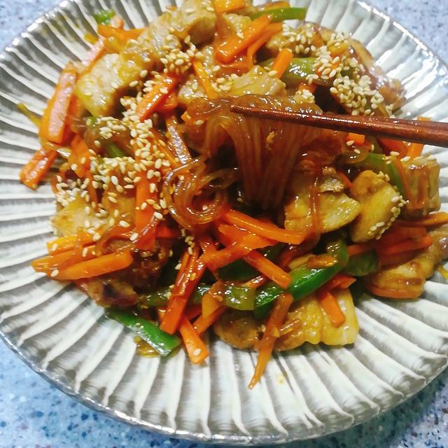 シン家のレシピ_韓国在住主婦_チャプチェ_レシピ